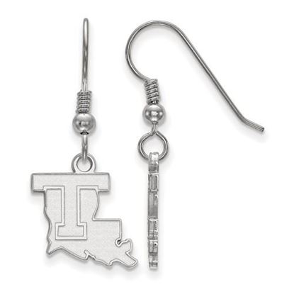 Picture of Louisiana Tech University Bulldogs Sterling Silver Small Dangle Earrings