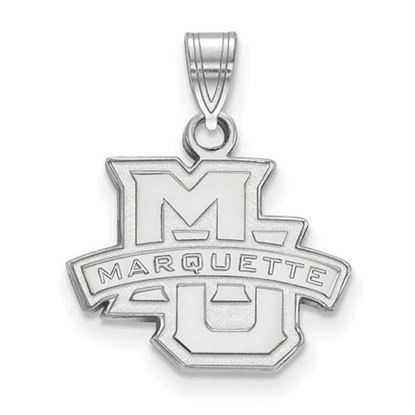 Picture of Marquette University Golden Eagles Sterling Silver Small Pendant