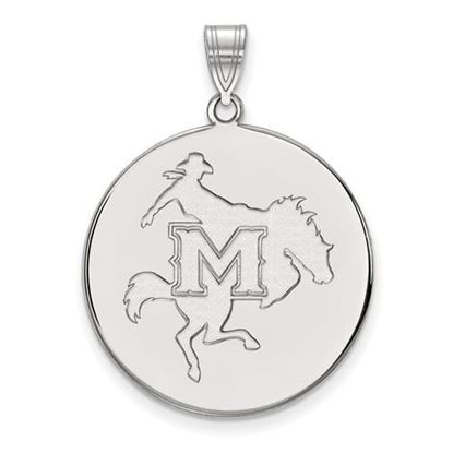 Picture of McNeese State University Cowboys Sterling Silver Extra Large Disc Pendant