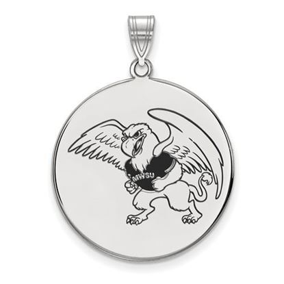 Picture of Missouri Western State University Griffons Sterling Silver Extra Large Enameled Disc Pendant