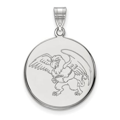 Picture of Missouri Western State University Griffons Sterling Silver Large Disc Pendant