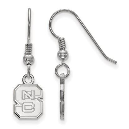 Picture of North Carolina State University Woldpack Sterling Silver Extra Small Dangle Earrings