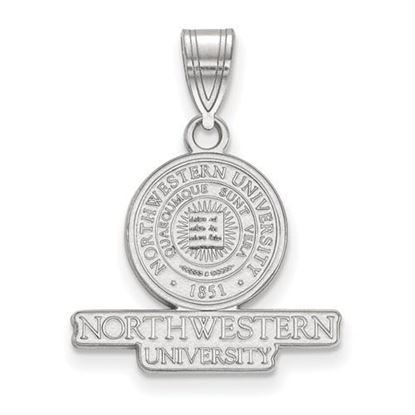 Picture of Northwestern University Wildcats Sterling Silver Medium Crest Pendant