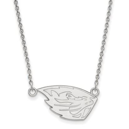 Picture of Oregon State University Beavers Sterling Silver Small Necklace