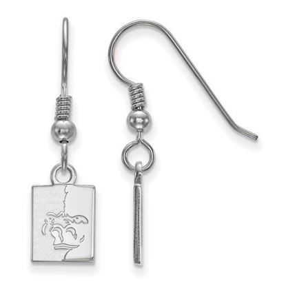 Picture of Pittsburgh State University Gorillas Sterling Silver Extra Small Dangle Earrings