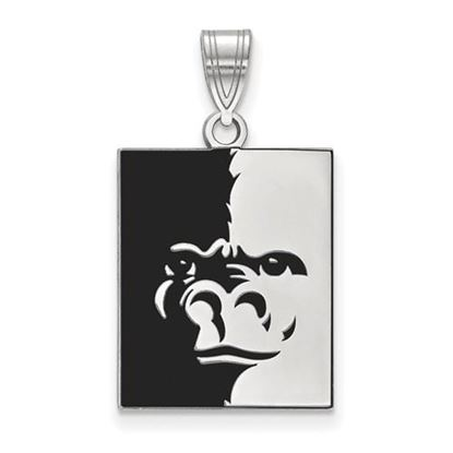 Picture of Pittsburgh State University Gorillas Sterling Silver Large Enameled Pendant