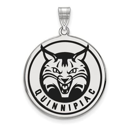 Picture of Quinnipiac University Bobcats Sterling Silver Extra Large Enameled Disc Pendant