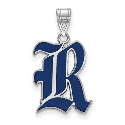 Picture of Rice University Owls Sterling Silver Large Enameled Pendant