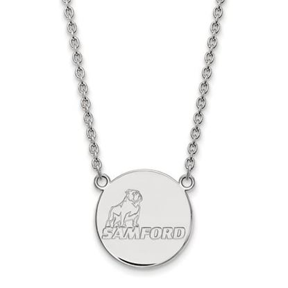 Picture of Samford University Bulldogs Sterling Silver Large Necklace