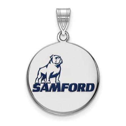 Picture of Samford University Bulldogs Sterling Silver Large Enameled Pendant