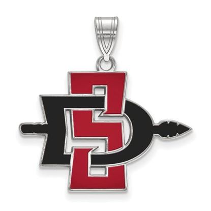 Picture of San Diego State University Aztecs Sterling Silver Large Enameled Pendant
