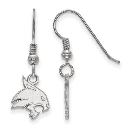 Picture of Texas State University Bobcats Sterling Silver Small Dangle Earrings