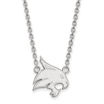 Picture of Texas State University Bobcats Sterling Silver Large Necklace