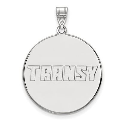 Picture of Transylvania University Pioneers Sterling Silver Extra Large Disc Pendant