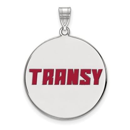 Picture of Transylvania University Pioneers Sterling Silver Extra Large Enameled Disc Pendant