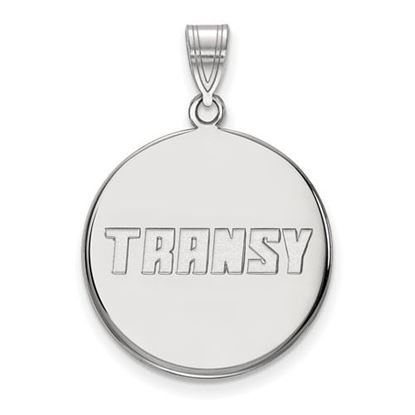 Picture of Transylvania University Pioneers Sterling Silver Large Disc Pendant