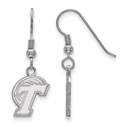 Picture of Tulane University Green Wave Sterling Silver Small Dangle Earrings