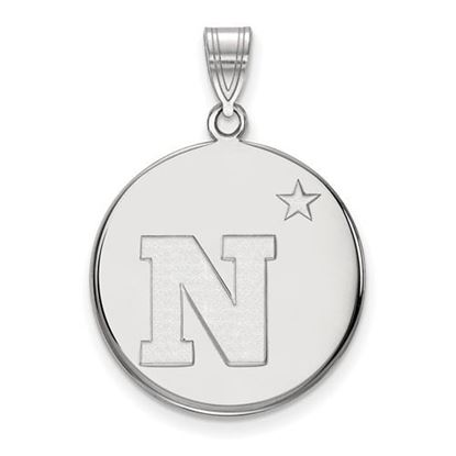Picture of U.S. Naval Academy Midshipmen Sterling Silver Large Disc Pendant