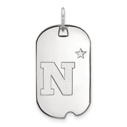 Picture of U.S. Naval Academy Midshipmen Sterling Silver Small Dog Tag