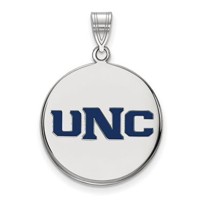 Picture of University of Northern Colorado Bears Sterling Silver Large Enameled Disc Pendant