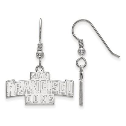 Picture of University of San Francisco Dons Sterling Silver Small Dangle Earrings