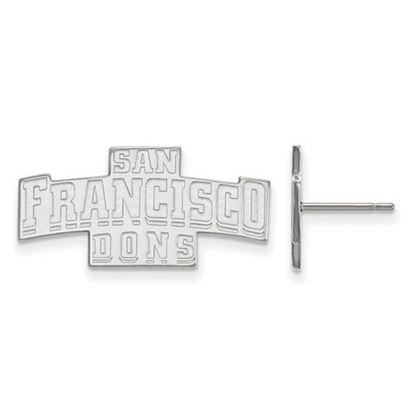 Picture of University of San Francisco Dons Sterling Silver Small Post Earrings