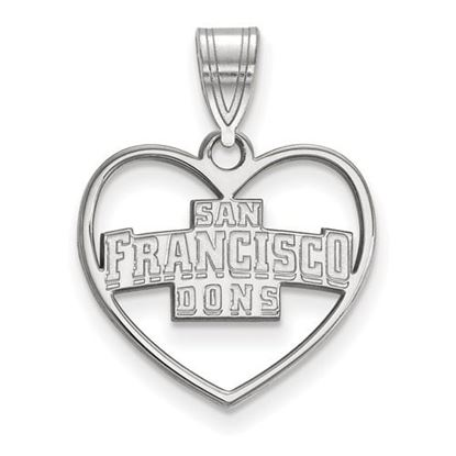 Picture of University of San Francisco Dons Sterling Silver Heart Pendant