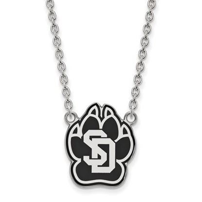 Picture of University of South Dakota Coyotes Sterling Silver Large Enameled Necklace