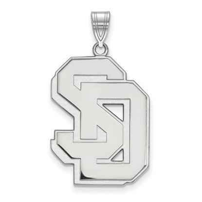 Picture of University of South Dakota Coyotes Sterling Silver Extra Large Pendant