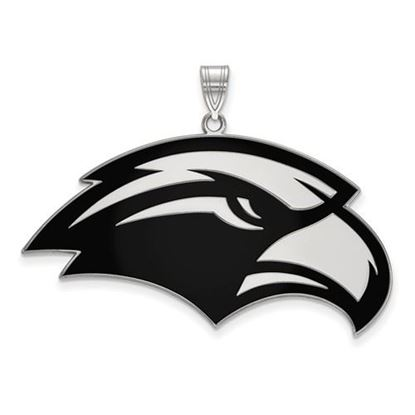 Picture of University of Southern Mississippi Golden Eagles Sterling Silver Extra Large Enameled Pendant