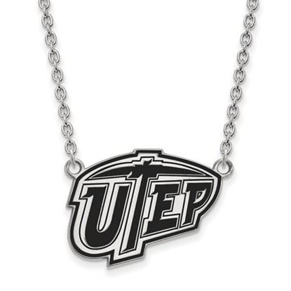 Picture of University of Texas at El Paso Miners Sterling Silver Large Enameled Necklace