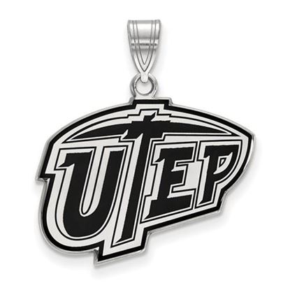 Picture of University of Texas at El Paso Miners Sterling Silver Large Enameled Pendant