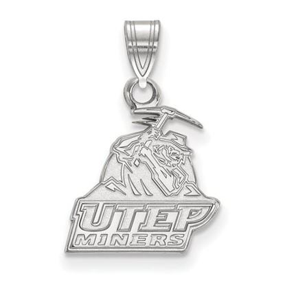 Picture of University of Texas at El Paso Miners Sterling Silver Small Pendant