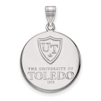 Picture of University of Toledo Rockets Sterling Silver Large Enameled Disc Pendant