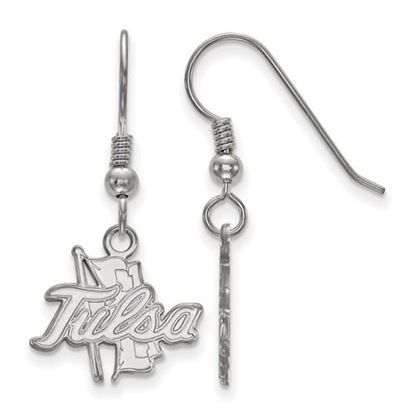 Picture of University of Tulsa Golden Hurricanes Sterling Silver Small Dangle Earrings
