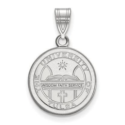 Picture of University of Tulsa Golden Hurricanes Sterling Silver Medium Crest Pendant
