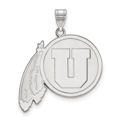 Picture of University of Utah Utes Sterling Silver Extra Large Pendant