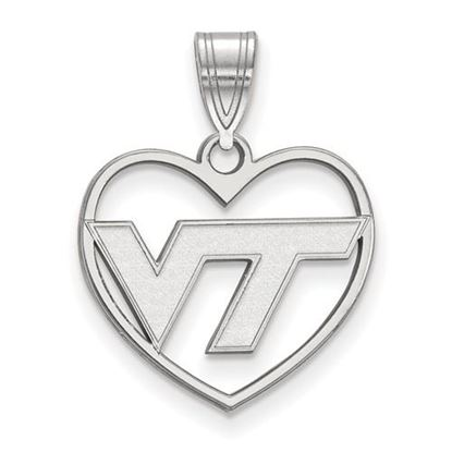Picture of Virginia Tech Hokies Sterling Silver Heart Pendant