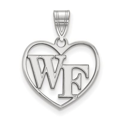 Picture of Wake Forest University Demon Deacons Sterling Silver Heart Pendant