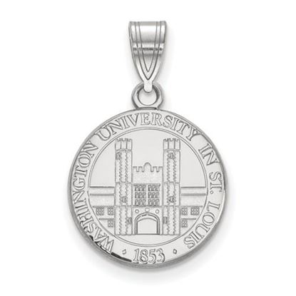 Picture of Washington University St. Louis Bears Bears Sterling Silver Medium Crest Pendant