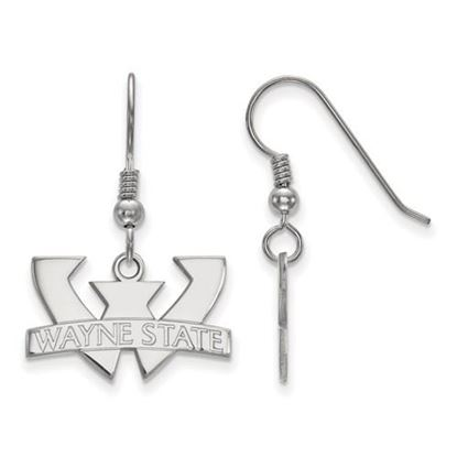 Picture of Wayne State University Warriors Sterling Silver Small Dangle Earrings