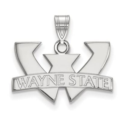 Picture of Wayne State University Warriors Sterling Silver Small Pendant