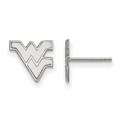 Picture of West Virginia University Mountaineers Sterling Silver Extra Small Post Earrings