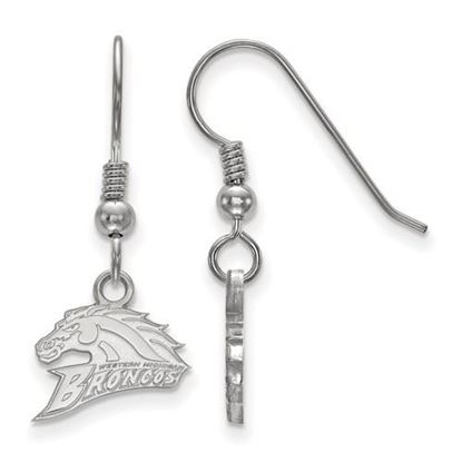 Picture of Western Michigan University Broncos Sterling Silver Extra Small Dangle Earrings