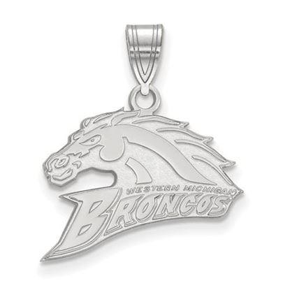 Picture of Western Michigan University Broncos Sterling Silver Medium Pendant