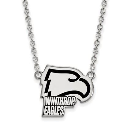 Picture of Winthrop University Eagles Sterling Silver Large Enameled Necklace