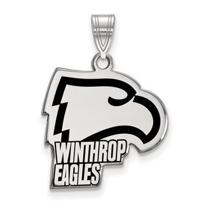 Picture of Winthrop University Eagles Sterling Silver Large Enameled Pendant