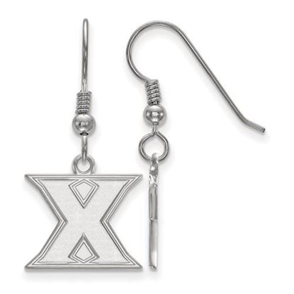 Picture of Xavier University Musketeers Sterling Silver Small Dangle Earrings