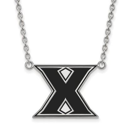 Picture of Xavier University Musketeers Sterling Silver Large Enameled Necklace