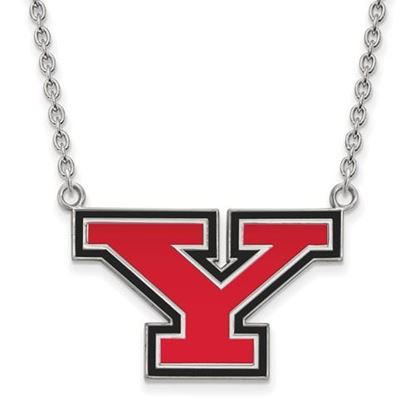 Picture of Youngstown State University Penguins Sterling Silver Large Enameled Necklace